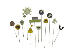 Halloween stick pins, pack of 12