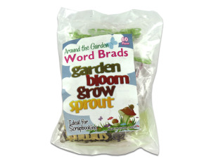 Wholesale: 60 In The Garden Word Brads
