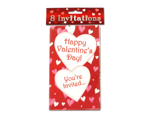 "Wholesale: ""Happy Valentine's Day!"" Invitations"