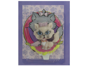 Kitty candle cake topper