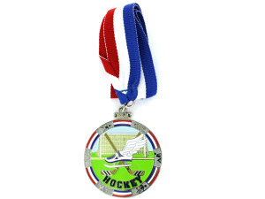 Personalized Hockey Enamel Medal