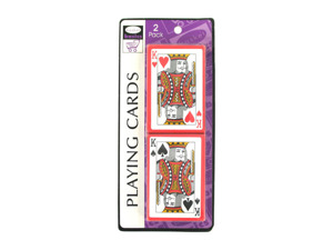 Wholesale: Plastic-coated playing cards, pack of 2 sets