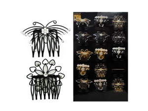 15pc hair comb assortment