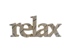 relax word wall plaque