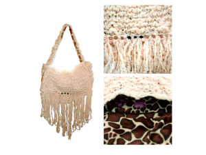 Cream Hand Knit Bag