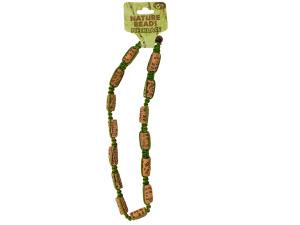 Nature Beads Ceramic Beaded Macrame Necklace