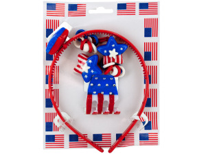 American Flag Hair Accessory Set
