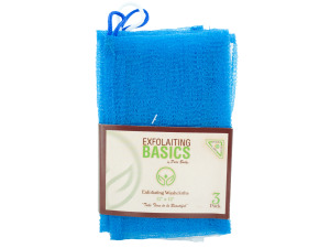3 pack 12 x 12 exfoliating washcloths dark blue