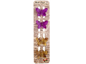 Butterfly Jaw Hair Clips