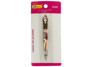 Tweezers with Girl Pattern