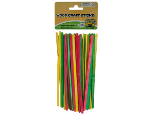 72 piece wood craft sticks