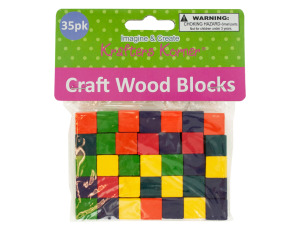 Colored Wooden Craft Blocks