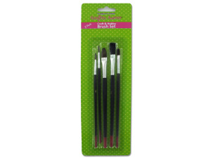 Craft and hobby brush set