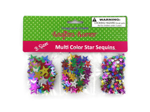 Star-shaped craft sequins