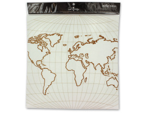 World overlay for scrapbooking or paper crafting