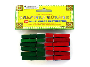 Wholesale: Multi-Color Clothespins