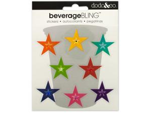 Stars Beverage Bling Stickers