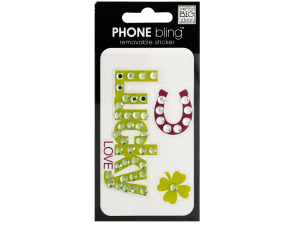 Lucky Love Phone Bling Removable Sticker