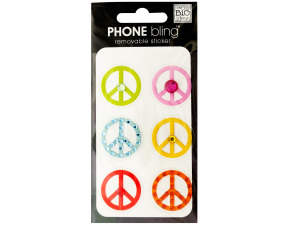 Peace Signs Phone Bling Removable Stickers
