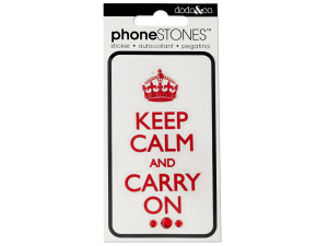 Keep Calm and Carry On Phone Stones Sticker