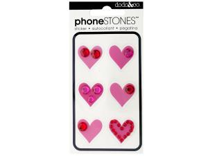 Hearts Phone Stones Stickers