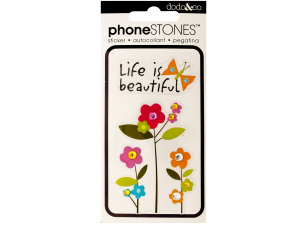 Life is Beautiful Phone Stones Stickers