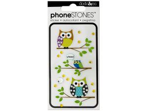 Owl Phone Stones Stickers