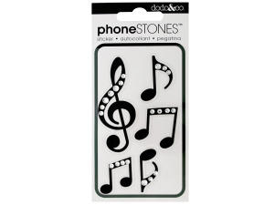 Musical Notes Phone Stones Stickers