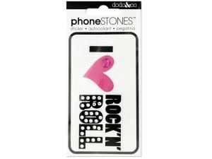 I Love Rock N' Roll Phone Stones Sticker