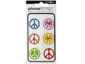 Peace Signs Phone Stones Stickers