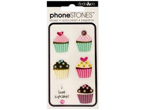 I Love Cupcakes Phone Stones Stickers