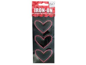 Hearts Rhinestone Iron-On Transfer