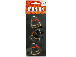 Candy Corn Rhinestone Iron-On Transfer