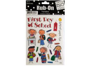 School Days Rub-On Transfers