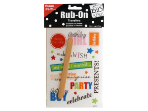 Sayings Value Pack Rub-On Transfers