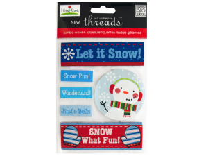 Let it Snow Jumbo Woven Labels