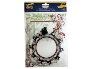 Clear Cuts Christmas Frames with Glitter Accents