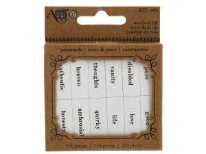 Words of Life Paper Craft Passwords