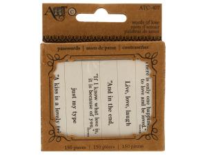 Words of Love Paper Craft Passwords