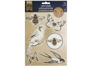 Colorable Nature Canvas Stickers