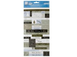 Fresh Verse Wedding Cardstock Stickers