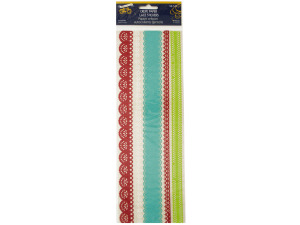 Christmas Cheer Crepe Paper Lace Stickers