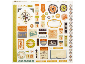 sticker sheet - travel words and icons