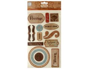 Heritage Self-Adhesive Chipboard Embellishments