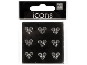 Bling Rhinestone Hearts Icons Stickers