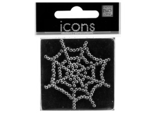 Bling Rhinestone Spider Web Icons Sticker