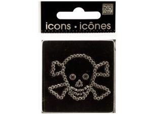 Bling Rhinestone Skull & Crossbones Icons Sticker