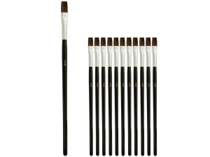 3/8 Inch Single Stroke Camel Hair Artist Brush Set
