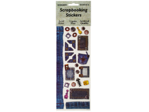 Denim Dream Scrapbooking Stickers