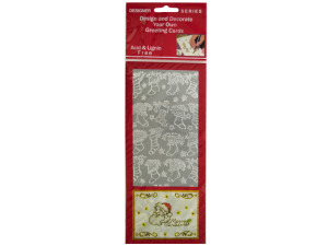 Christmas Stockings Silver Foil Stickers